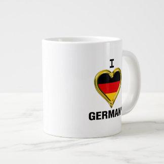 I Heart Flag Germany Large Coffee Mug