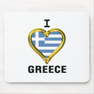 I Heart Flag Greece Mouse Pad