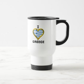 I Heart Flag Greece Travel Mug