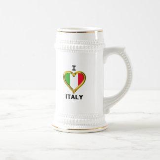 I Heart Flag Italy Beer Stein