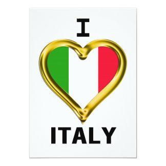 I Heart Flag Italy Card