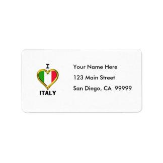 I Heart Flag Italy Label