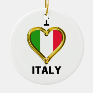 I Heart Flag Italy Ornament