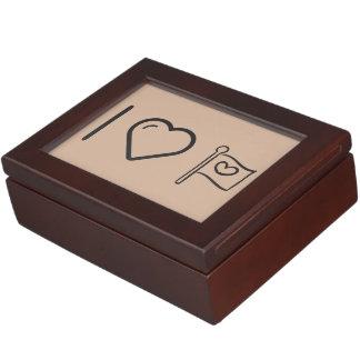 I Heart Flag Peaces Memory Boxes