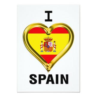 I Heart Flag Spain Card