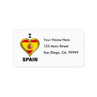 I Heart Flag Spain Label