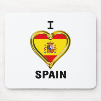 I Heart Flag Spain Mouse Pad