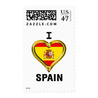 I Heart Flag Spain Postage