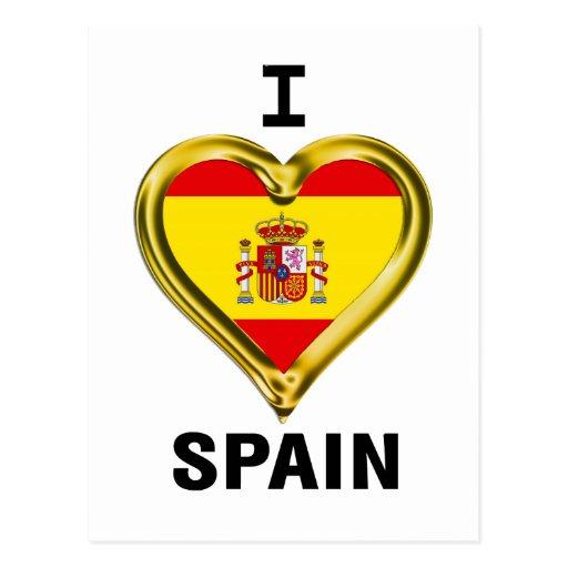 I Heart Flag Spain Postcard