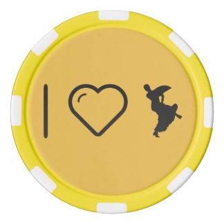 I Heart Flamenco Bends Poker Chips