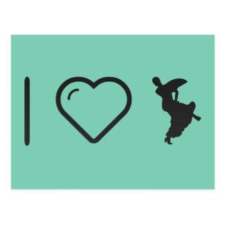 I Heart Flamenco Bends Postcard