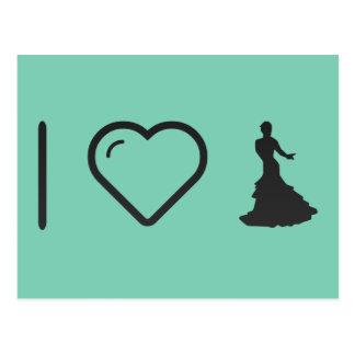 I Heart Flamenco Dancers Postcard