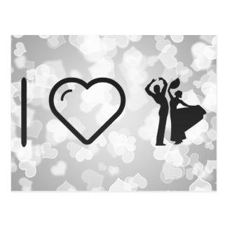 I Heart Flamenco Duos Postcard