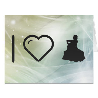 I Heart Flamenco Gowns Large Greeting Card