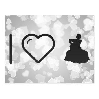 I Heart Flamenco Gowns Postcard