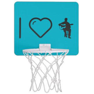 I Heart Flamenco Guitarists Mini Basketball Backboard