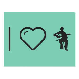 I Heart Flamenco Guitarists Postcard
