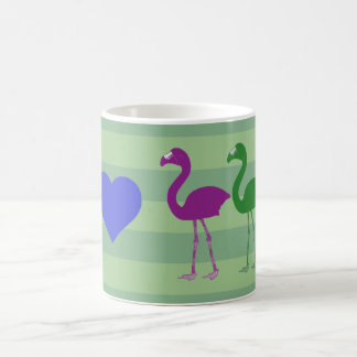 """I Heart Flamingos"" Coffee Mug (Green/Ultraviolet)"