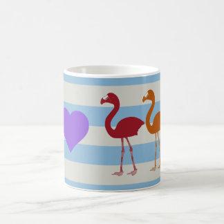 """""""I Heart Flamingos"""" Coffee Mug (LtBlue/Violet)"""