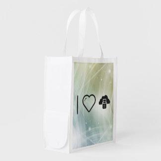 I Heart Flash Drives Reusable Grocery Bag