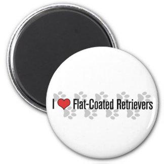 I (heart) Flat-Coated Retrievers Fridge Magnets