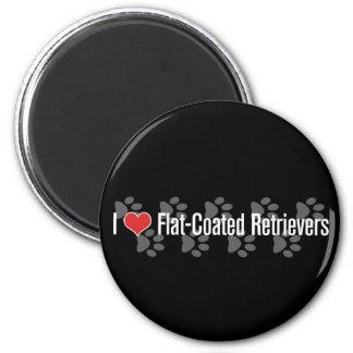 I (heart) Flat-Coated Retrievers Magnet