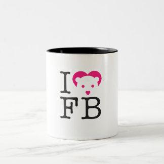 I heart FLOPPYBEAR Two-Tone Coffee Mug