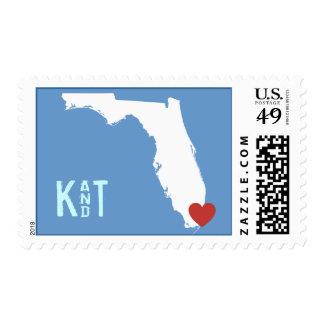I Heart Florida - Customizable City Stamp