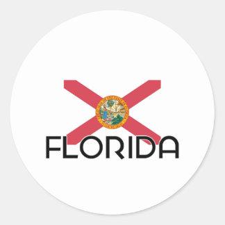 I HEART FLORIDA ROUND STICKERS
