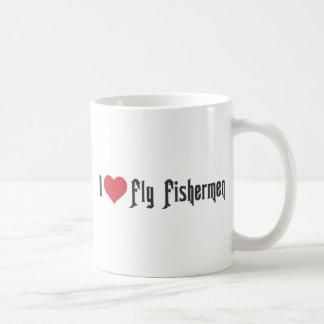 I Heart Fly Fishermen Coffee Mugs