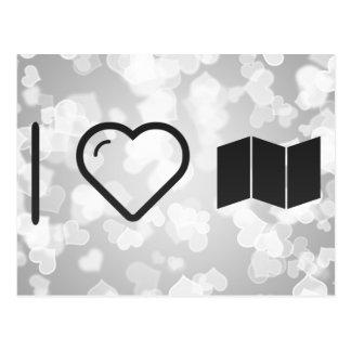 I Heart Folded Boards Postcard