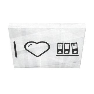 I Heart Folders Compiles Canvas Print