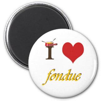 I heart fondue 2 inch round magnet