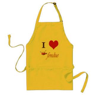 i heart fondue adult apron