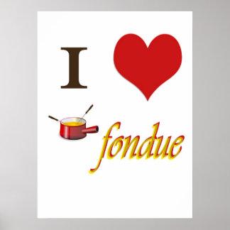 i heart fondue poster