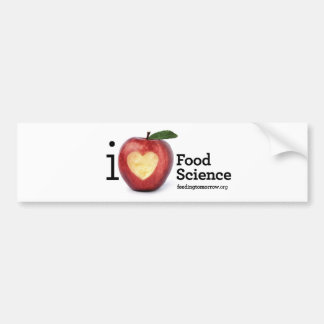 """I Heart Food Science"" Bumper Sticker"