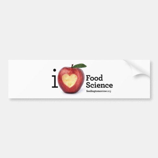 """I Heart Food Science"" Bumper Sticker"