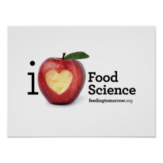 """I Heart Food Science"" Poster"