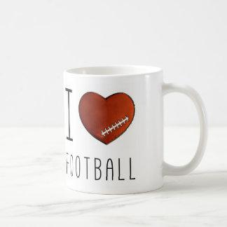 I (heart) Football Mug