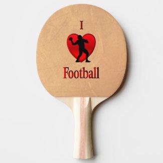 I Heart Football Ping-Pong Paddle