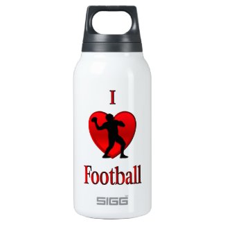 I Heart Football 10 Oz Insulated SIGG Thermos Water Bottle