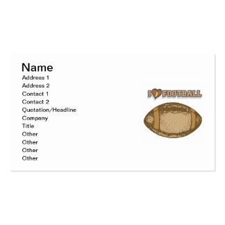 I Heart Football T-shirts and Gifts Double-Sided Standard Business Cards (Pack Of 100)