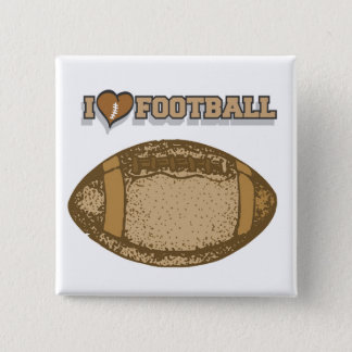 I Heart Football T-shirts and Gifts Button