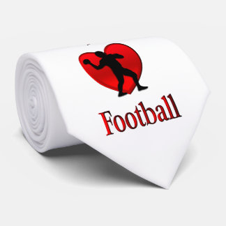 I Heart Football Tie