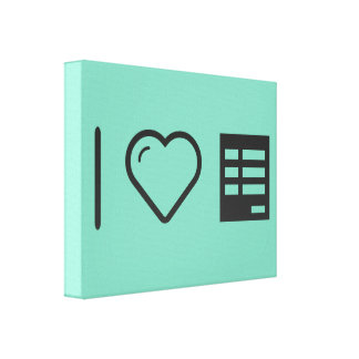 I Heart Form Papers Canvas Print
