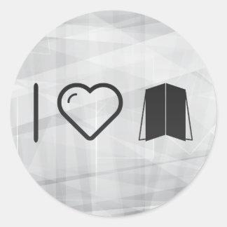 I Heart Four Folders Classic Round Sticker