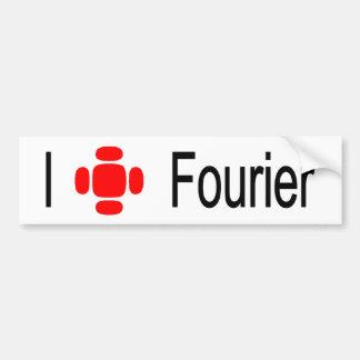 I heart Fourier Car Bumper Sticker