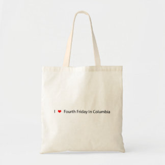 I Heart Fourth Friday In Columbia Canvas Bag
