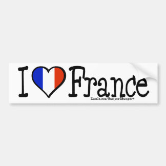 I HEART FRANCE CAR BUMPER STICKER