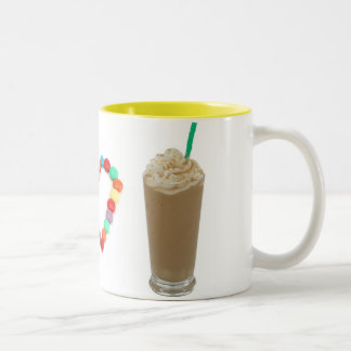 I Heart Frappuccinos Two-Tone Coffee Mug